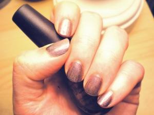 OPI sparkle grey nail polish