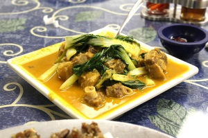 oxtail with peanut sauce