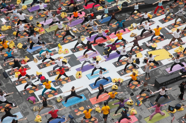 Solstice Yoga in Times Square 2009