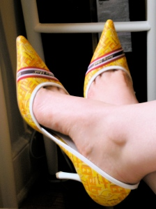 Yellow Baby Phat pumps