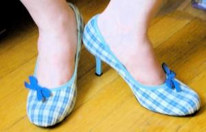 Delia's gingham heels