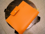 orange leather agenda