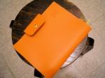orange leather agenda