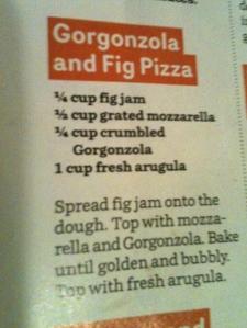 Gorgonzola and Fig Pizza