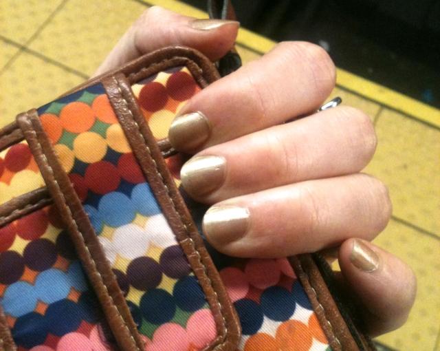 sephora nail polish gold digger