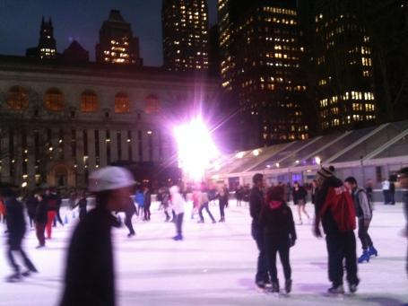 ice skating bryant park