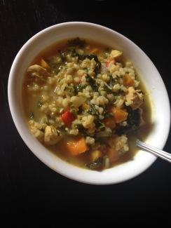 soup kale barley squash